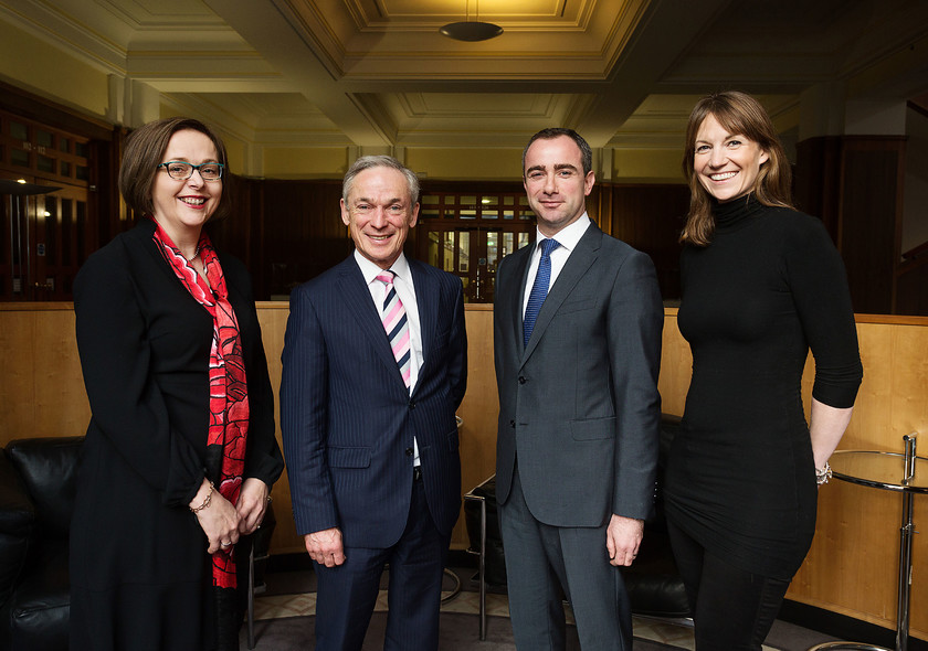 Pictured: L-R Naomi Cogan, Manager Working Groups, GSMA Minister Richard Bruton, TD Darragh Kelly, Anam Chairman and Louise O'Sullivan, Anam President & Founder Mandatory Credit: ©1IMAGE/Bryan Brophy