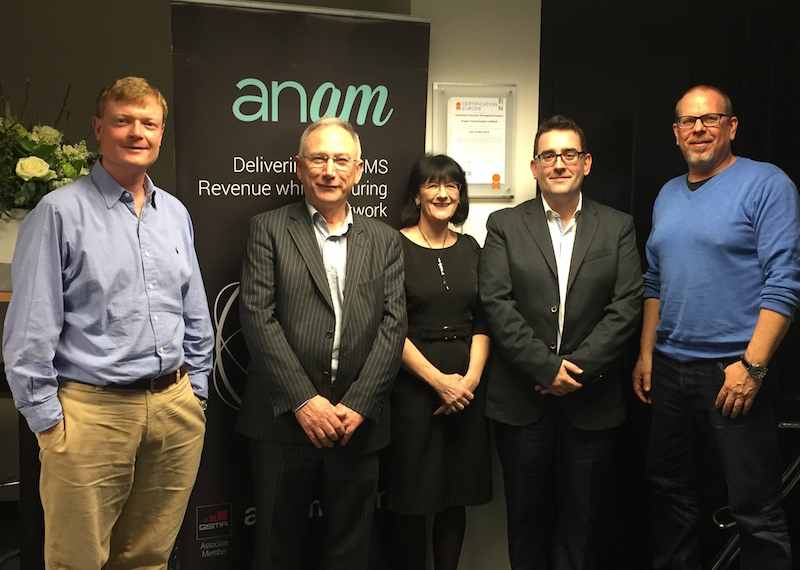 Pictured L to R: Alan Darcy, Anam CCO; Fran Davern, CEO Davern itSM; Marion Martin, Auditor at Certification Europe; Paul Kennedy, Anam CFO and Dan Bourne, IT Manager Anam.